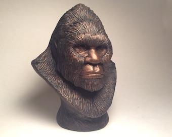 Bigfoot Sasquatch Sculpture Bust Forest Legend