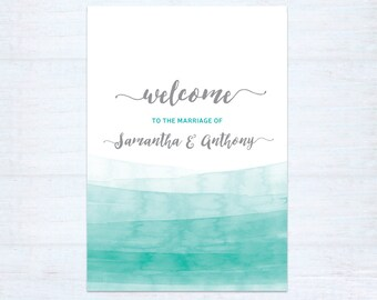 Welcome sign – Watercolour