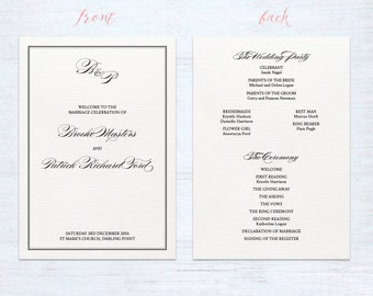 Double sided program cards – Classique