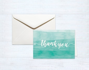 Thank You Cards – Watercolour