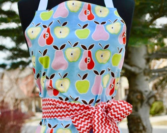 Women's Apples and Pears Reversible Apron