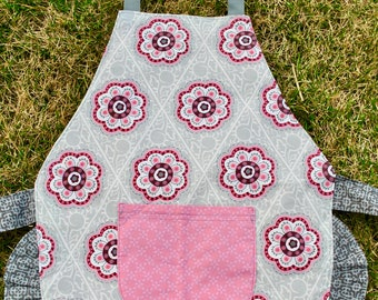 Girls Pretty in Pink Reversible Apron