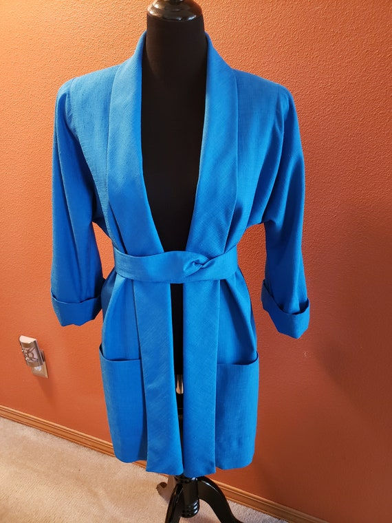 Patchington Teal/Tuquoise 1980's Jacket/Blazer wit