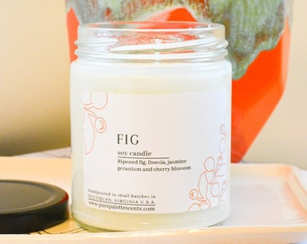 Fig Soy Candle with Black Metal Lid