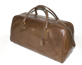 d6380c185cd Early Vintage GUCCI Duffle Brown Pigskin Leather Extra Large Doctors Bag  Speedy Tote -Authentic-