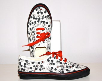 e707754a70 Vintage VANS MICKEY Mouse USA Made Disney Skate Sneakers 7 - Authentic -