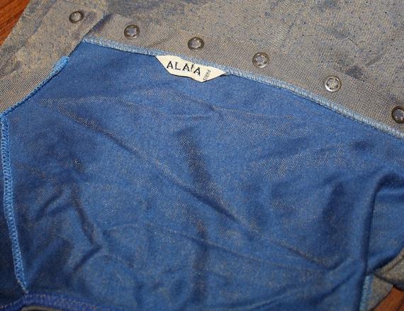 AZZEDINE ALAIA Vintage Metallic Knit Bodysuit - image 4