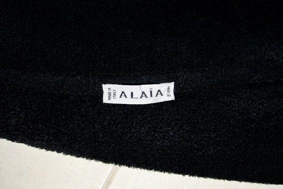 Vintage AZZEDINE ALAIA Chenille Jacket Black Velv… - image 5