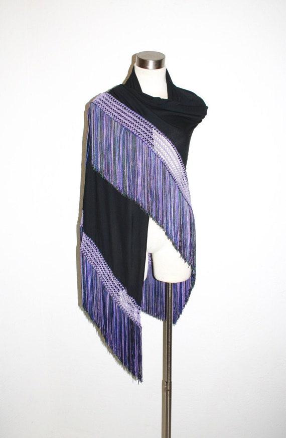 Vintage GIANNI VERSACE  Fringe Tassel Shawl Wrap -
