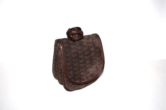 4a18bffd8a BOTTEGA VENETA Vintage Suede Butterfly Bag Brown Leather Fanny