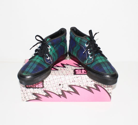 2bf3e35b0a Vintage VANS PLAID USA Made Chukka Boot Sneakers 8