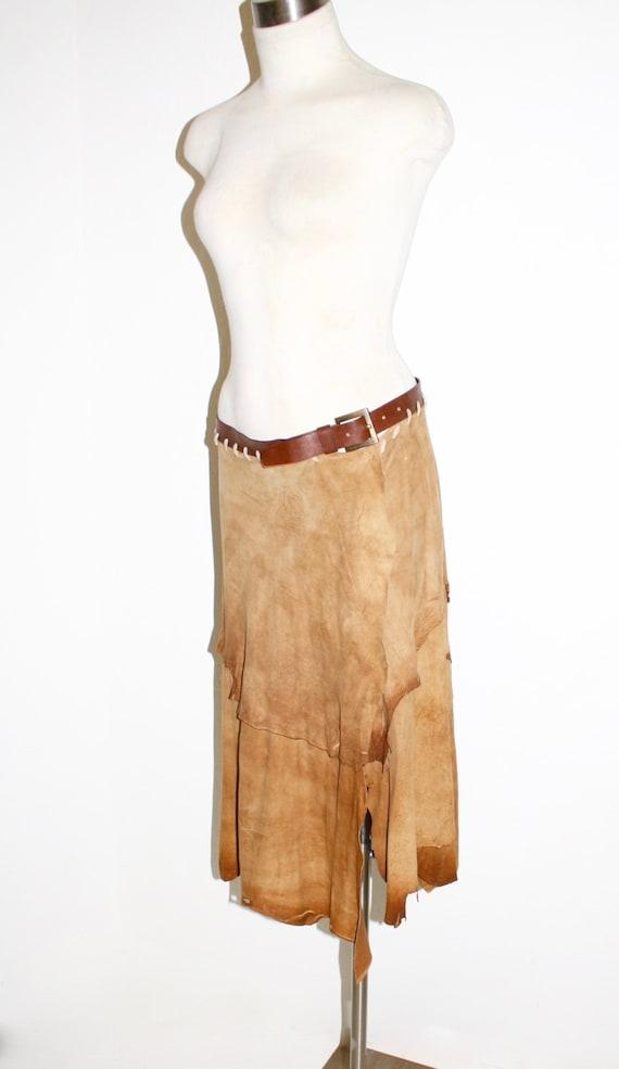 1d363cc06d DOLCE   GABBANA Vintage Goatskin Skirt Hippie Belt Wrap