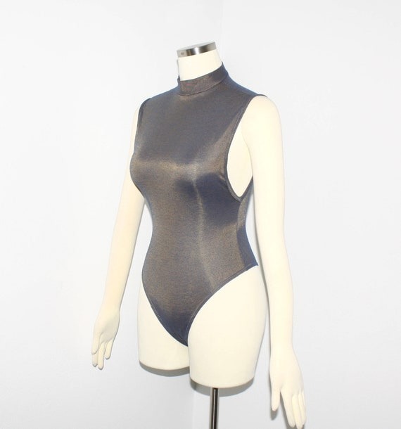 AZZEDINE ALAIA Vintage Metallic Knit Bodysuit - image 1