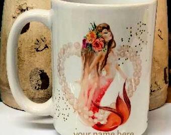 Mermaid Heart mug
