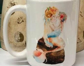 Mom and child mermaid mug