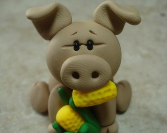 Pig Clay Figurine