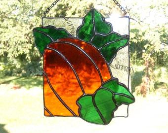 Stained Glass Pumpkin Suncatcher