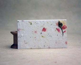 Seed paper etsy handmade seed paper with pink larkspur petals and wild flower seeds 32 cards 24s 35 x 2 panels mightylinksfo