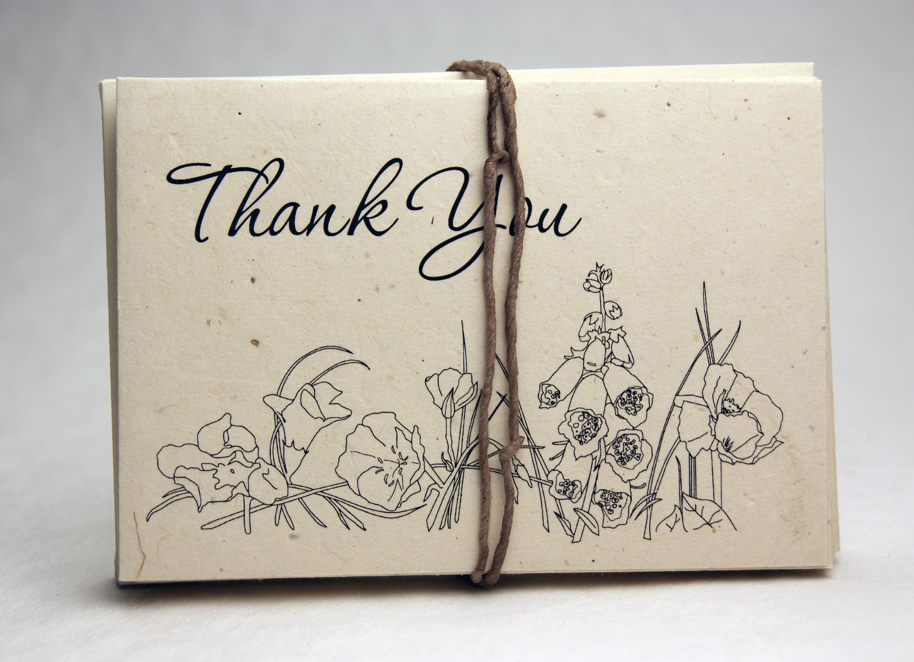 Seed Paper Thank You Cards Blank Inside Recycled Paper Etsy