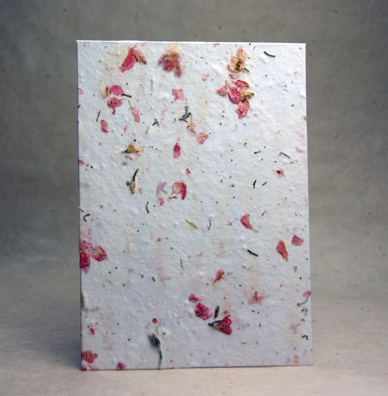 Handmade Seed Paper With Pink Larkspur Petals And Wild Flower Etsy
