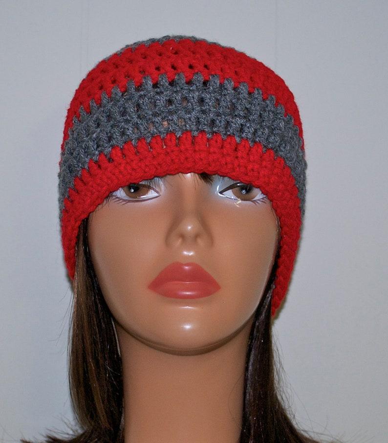 f780a9ae Custom Crochet Beanie Hat/ Ohio State/ OSU / Adult Size | Etsy