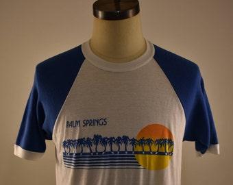 Vintage Palm Springs short sleeve baseball style tee CA T-Shirt