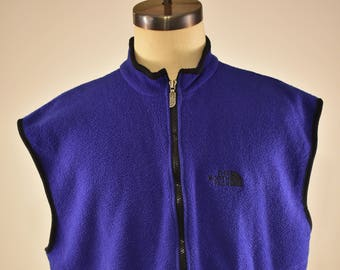 Vintage The North Face purple fleece zip up vest