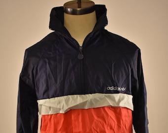 Vintage Adidas Pullover Nylon Jacket 80's