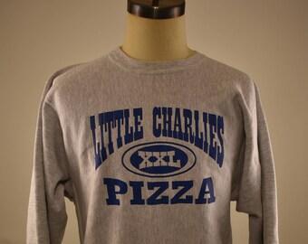 "Vintage Champion Reverse Weave ""Little Charles XXL PIZZA"" Sweatshirt Large"