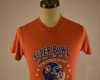 Vintage Denver Broncos 1987 AFC Champions T Shirt M