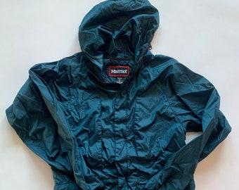 Vintage MARMOT Full-Zip Windbreaker Hoodie Jacket, Size S