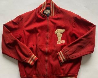 Vintage 1950's FIRESTONE Safety Team Workwear Jacket Size 44
