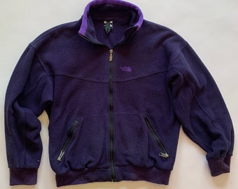 Vintage The North Face Purple Fleece Jacket, Size XS