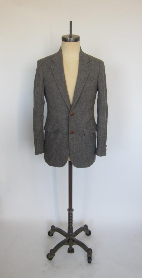 Vintage GANT TWEED Harringbone Grey Sports Coat Bl