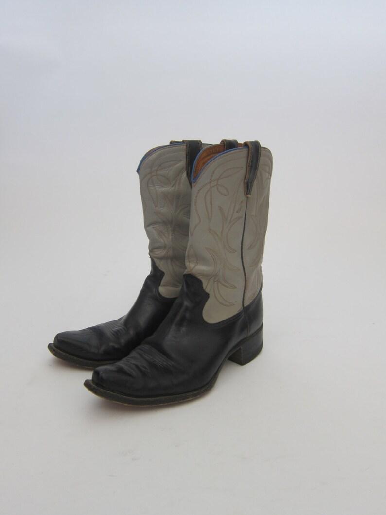 c7f16ff6e Vintage 50's Black Grey Cowboy Boots Size 9.5 D | Etsy