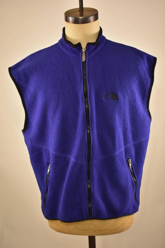 e83e077f9 Vintage The North Face purple fleece zip up vest