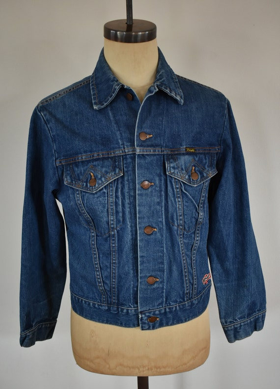 Vintage Wrangler Two Pocket Denim Trucker Jacket S