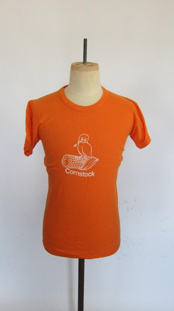 Vintage Russell Athletic Orange Cornstock 70's USA