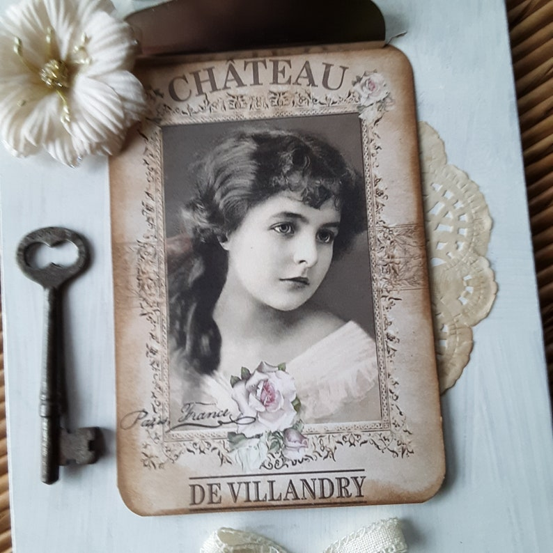 Vintage Wall Art Shabby Chic Decor Altered Clipboard Victorian Photo Vintage Clipboard
