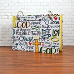 "3"" x 5"" or 4"" x 6"" faith words index card binder, journal for scripture memory, bible study planner, prayer request, bible verses"