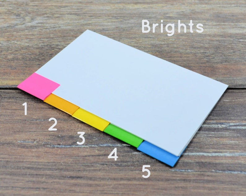 BRIGHT 5 or 30 blank tab dividers for index card binder image 0