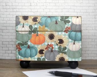 Kitchen Recipe Box, Stacked Pumpkins, Thanksgiving Decorations, Index Card Organization