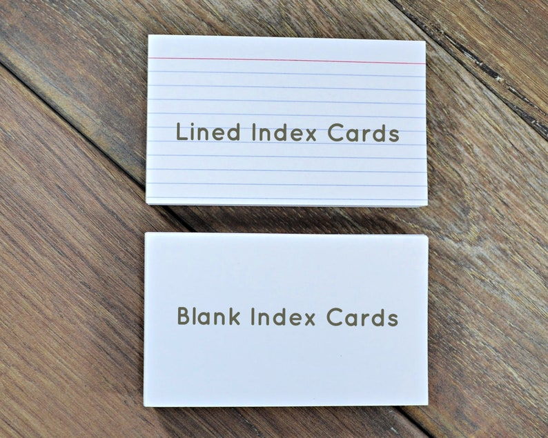 Index Cards Blank and Lined Refills Punched Holes for image 1
