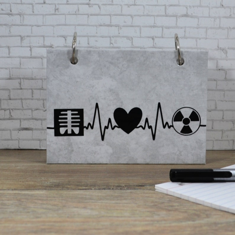Radiology Student Index Card Binder Medical Nursing Notes image 0