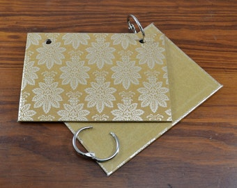 COVER and RINGS ONLY, gold index card binder, addresses, organize recipes, bible scriptures, gift for nurses, teachers, coworker