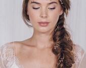 Simple wedding plait hair pins, small rustic bridal hair pins, gold silver or rose gold hair pin trio set - Haillie