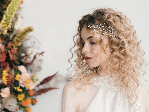 Deanyi Boda del Tocado de Cristal Hechos a Mano Cuentas de la Novia Perla Flores para la decoraci/ón de la Boda del Partido