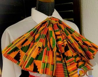 Kente Print/ Ankara Print /African Print Oversized Bow tie, Scarf, Neckwear