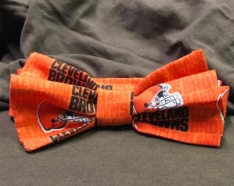 Kids Orange Cleveland Browns Bow tie