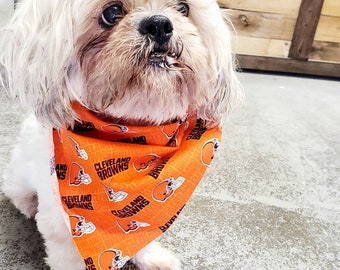 Cleveland Browns Orange Pet Bandana